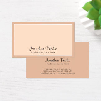 Elegant Colors Professional Chic Design Modern Business Card