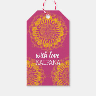 Elegant & Colourful Mandala Personalised Gift Tag