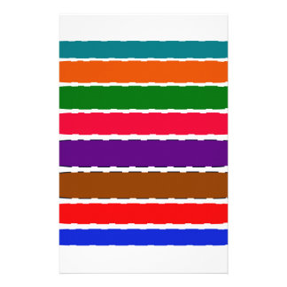 Elegant Colourful Rainbow Slices Pattern Stationery