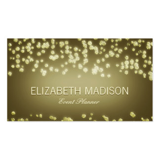 Elegant Confetti Champagne Bubbles Pack Of Standard Business Cards