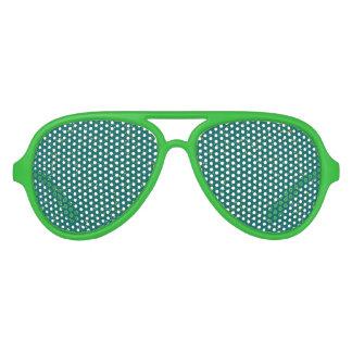 Elegant Confetti Space - Teal Green & Gold,Silver Aviator Sunglasses