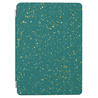 Elegant Confetti Space - Teal Green & Gold,Silver iPad Air Cover