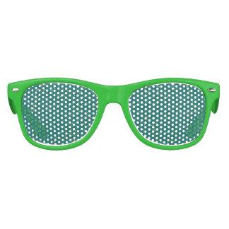 Elegant Confetti Space - Teal Green & Gold,Silver Kids Sunglasses