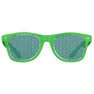 Elegant Confetti Space - Teal Green & Gold,Silver Retro Sunglasses