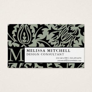 Elegant Consultant Business William Morris Thistle Business Card