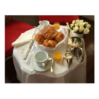 Elegant Continental Breakfast Postcard