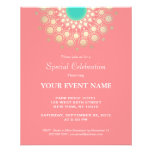 Elegant Coral Pink and Gold Circle Motif 11.5 Cm X 14 Cm Flyer