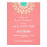 Elegant Coral Pink and Gold Circle Motif 21.5 Cm X 28 Cm Flyer