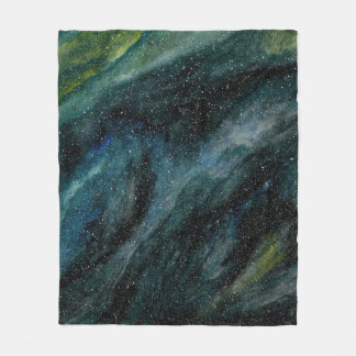 Elegant Cosmos Watercolor Fine Art Mason Ingrassia Fleece Blanket