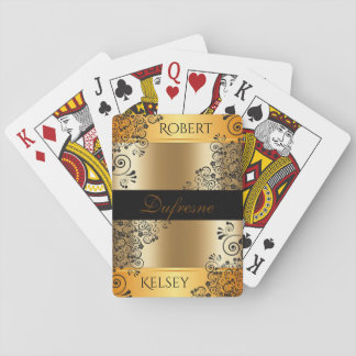 Elegant Couples First & Last Name Poker Deck