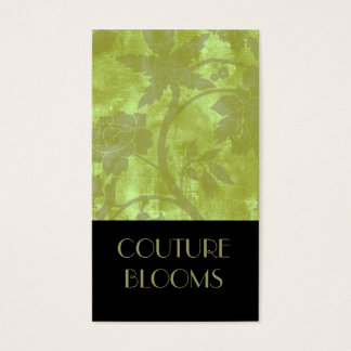Elegant Couture Florist Business Card