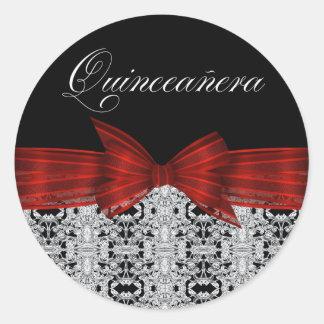 Elegant Cranberry Red Black Diamond Stickers