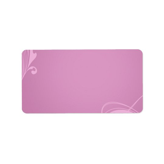 Elegant creamy pink swirls address label