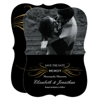Elegant Curves Save the date Card
