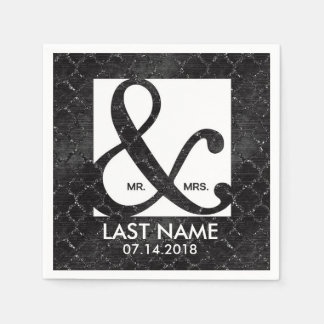 Elegant custom ampersand napkins disposable serviette