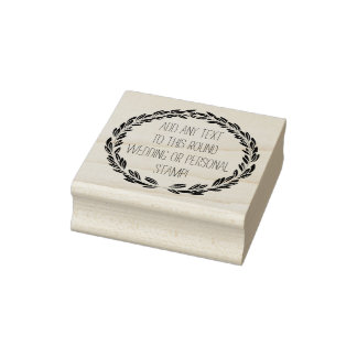 Elegant Custom Any Text Circle Round Wedding Stamp