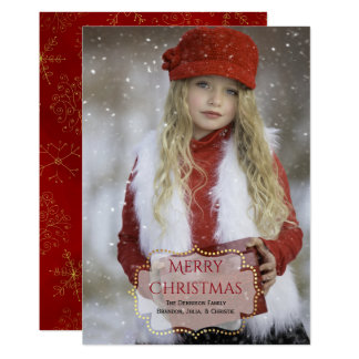 Elegant Custom Christmas Photo Card
