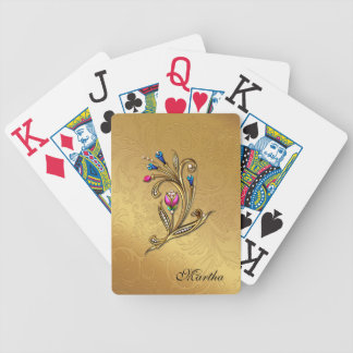 Elegant Custom Gold Tone Playing Cards