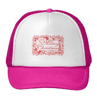Elegant Custom Merry Christmas Floral Pattern Mugs Hat