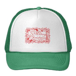 Elegant Custom Merry Christmas Floral Pattern Mugs Hats