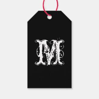 Elegant Custom Monogram and Color Gift Tags