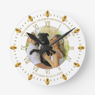 Elegant Custom PHOTO Clock ANY Occasion Add Text