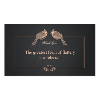 Elegant Customer Thank You Referral Card Pack Of Standard Business Cards