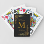 Elegant Customised Monogrammed Playing Cards