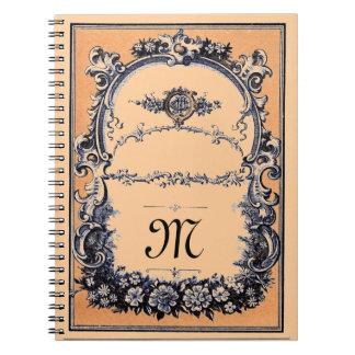 Elegant Customizable Monogramed Notebook