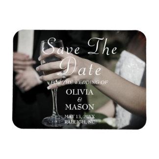 Elegant Customizable Save The Date Magnet