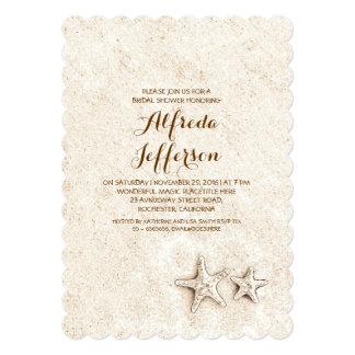 elegant cute beach bridal shower invitations