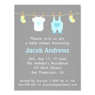 Elegant Cute Prince Baby Boy Shower Invitation