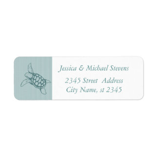 Elegant cute sea turtle return address label