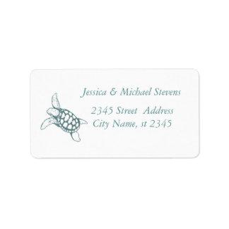 Elegant cute stylish sea turtle label