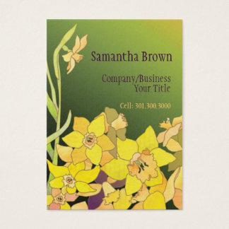 Elegant Daffodils Hip Fashion Business Cards