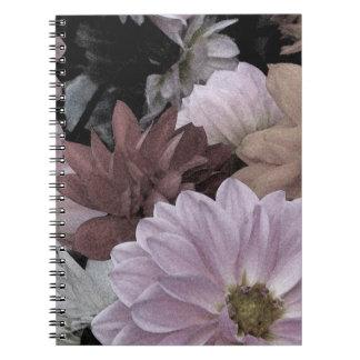 Elegant Dahlia Garden Flowers Floral Notebook