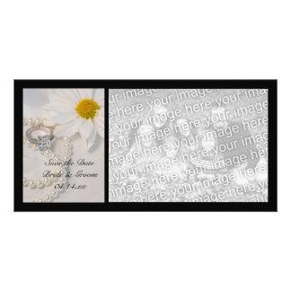 Elegant Daisy Wedding Save the Date Photo Card