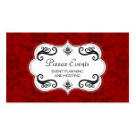 Elegant Damask and Swirls Business Cards