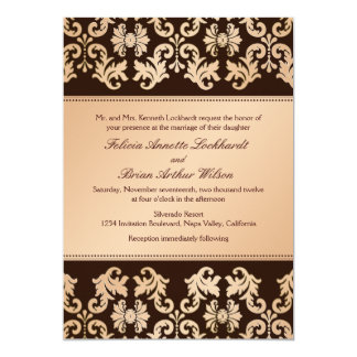 Elegant Damask Autumn Reverie Wedding Invitation