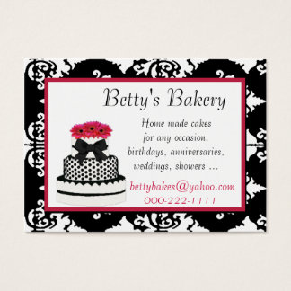 Elegant Damask Bakery Business Card