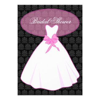 Elegant Damask Bridal Shower Invitation