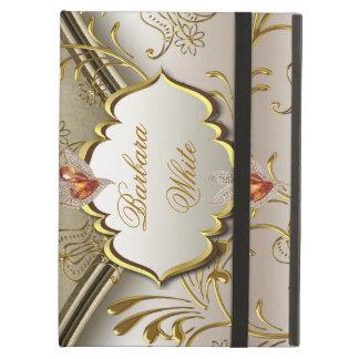 Elegant Damask Caramel Cream Beige Gold Amber 2 iPad Air Cover