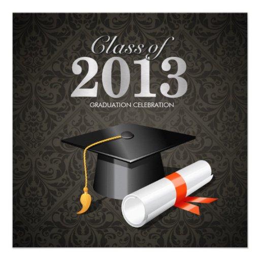Elegant Damask Class of 2013 Announcements