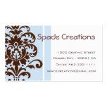 Elegant Damask - Customised Business Card Template