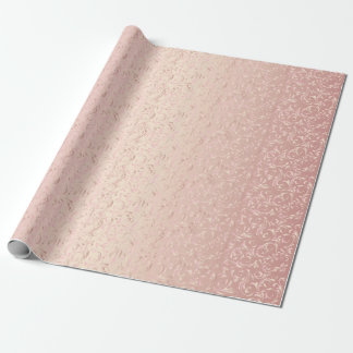 Elegant Damask Design | Rose Pink Wrapping Paper