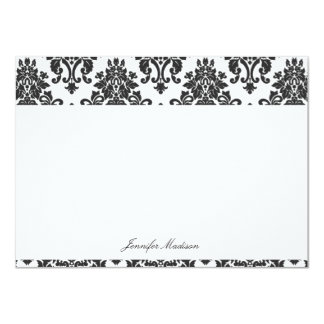Elegant Damask Flat Note Cards