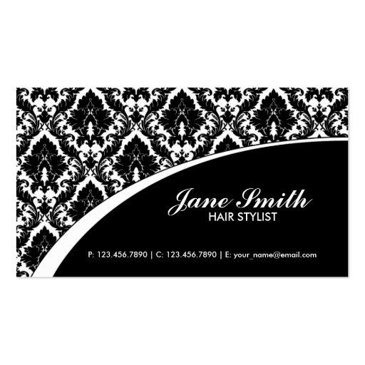 Elegant Damask Floral Retro Professional Stylish Business Cards
