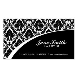 Elegant Damask Floral Retro Professional Stylish Pack Of Standard Business Cards