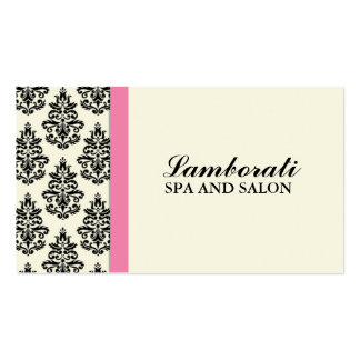 Elegant Damask Floral Stylist Salon Hairdresser Pack Of Standard Business Cards
