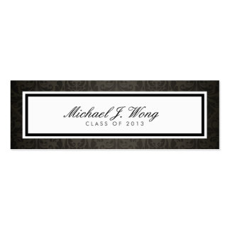 Elegant Damask Graduation Announcement Name Cards Pack Of Skinny Business Cards